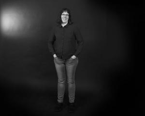 Lena Petersson. Lågupplöst bild. Svartvit. Foto: Per-Åke Roos, Rapps Foto.
