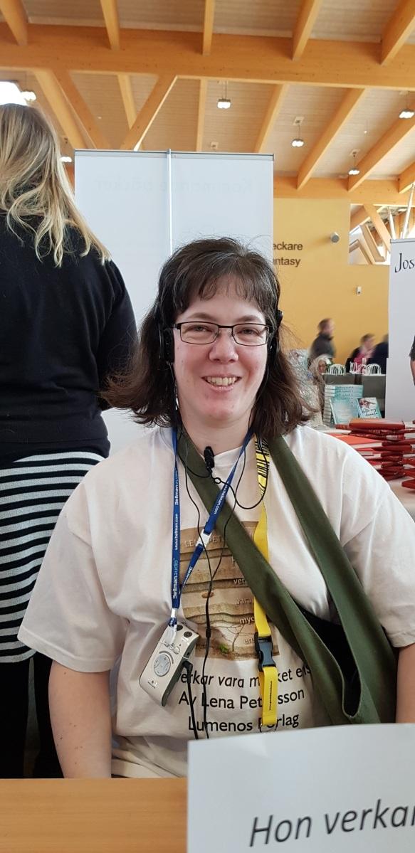 Lena Petersson på TellUs 2017. Foto: Sandra Englund.